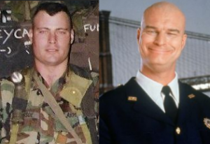 "Eric (AKA ""The Bull"") back in his army days. Just imagine a little of the top and the resemblance is uncanny!"